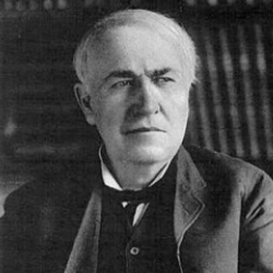 Author Thomas A. Edison