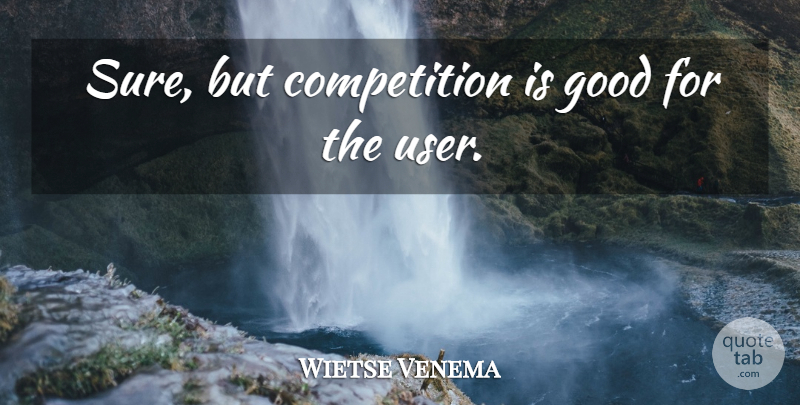 Wietse Venema Quote About Competition, Users: Sure But Competition Is Good...