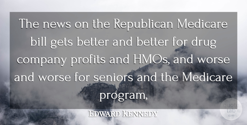 Edward Kennedy Quote About Bill, Company, Gets, Medicare, News: The News On The Republican...