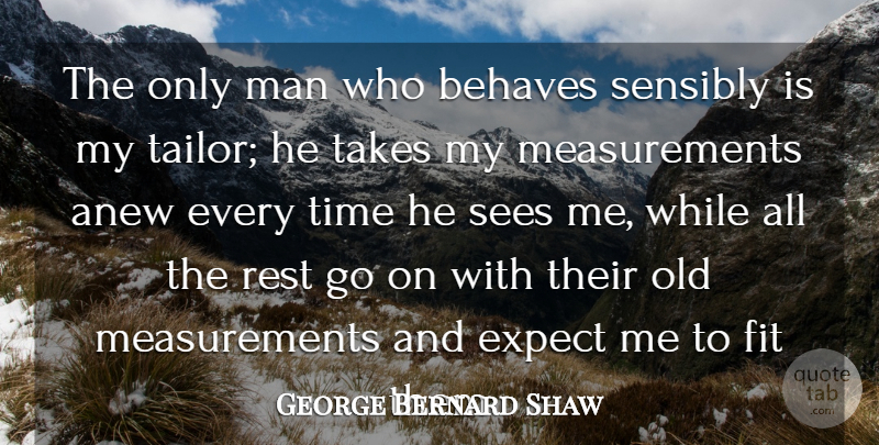 George Bernard Shaw Quote About Anew, Behaves, Expect, Fit, Man: The Only Man Who Behaves...