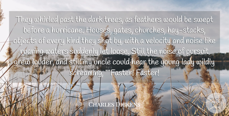 Charles Dickens Quote About Uncles, Dark, Past: They Whirled Past The Dark...