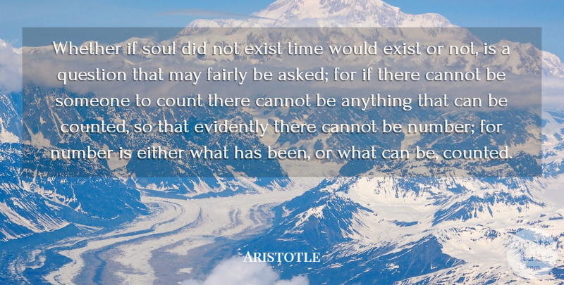 Aristotle Quote About Numbers, Soul, May: Whether If Soul Did Not...