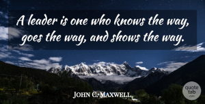 Leadership Quotes, John C. Maxwell Quote About Inspirational, Leadership, Basketball: A Leader Is One Who...