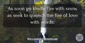 Romantic Quotes, William Shakespeare Quote About Love, Romantic, Valentines Day: As Soon Go Kindle Fire...