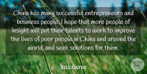 Entrepreneur Quotes, Bill Gates Quote About Successful, People, Entrepreneur: China Has Many Successful Entrepreneurs...