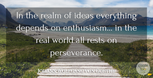 Leadership Quotes, Johann Wolfgang von Goethe Quote About Leadership, Perseverance, Business: In The Realm Of Ideas...