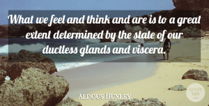 Aldous Huxley Quote About Funny, Yoga, Health: What We Feel And Think...