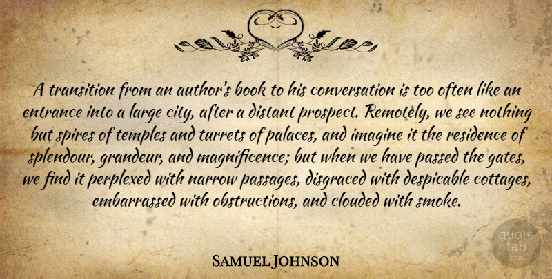 Samuel Johnson Quote About Book, Cities, Atheism: A Transition From An Authors...