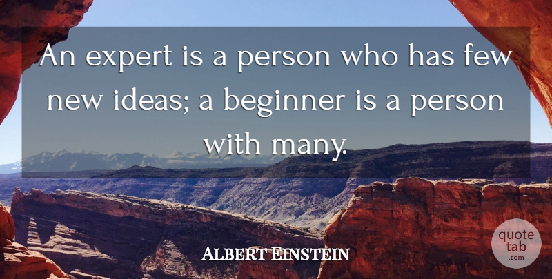 Albert Einstein Quote About Ideas, Experts, Beginners: An Expert Is A Person...