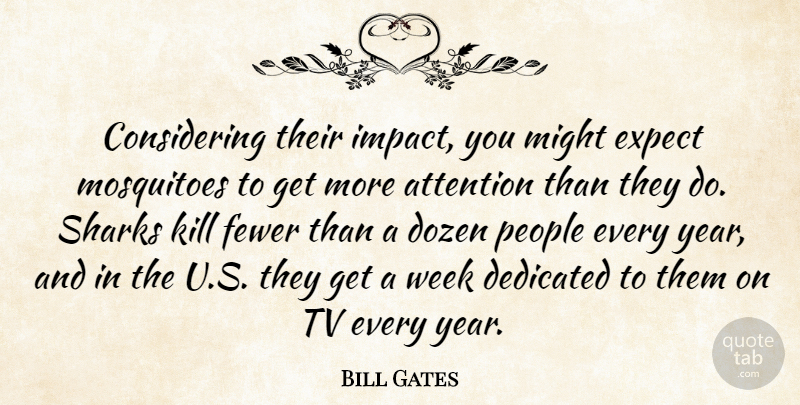 Bill Gates Quote About Sharks, Years, Impact: Considering Their Impact You Might...