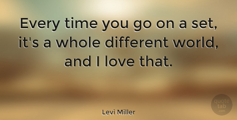 Levi Miller Quote About Love, Time: Every Time You Go On...