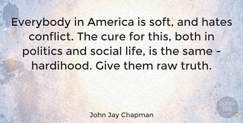 John Jay Chapman Quote About Hate, Squash, America: Everybody In America Is Soft...