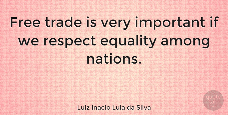 Luiz Inacio Lula da Silva Quote About Important, Trade, Nations: Free Trade Is Very Important...