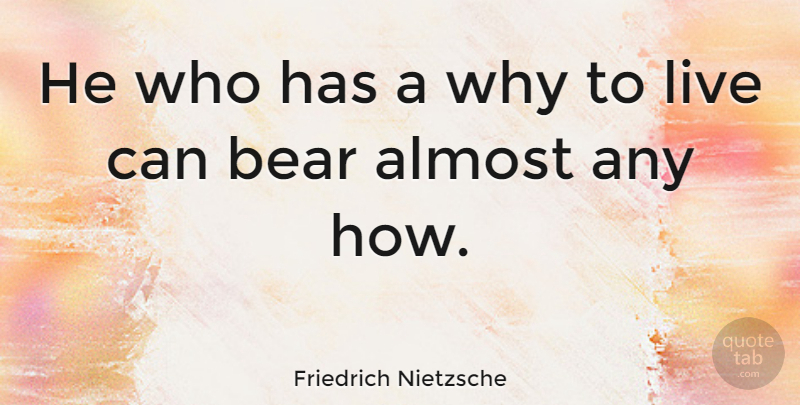 Friedrich Nietzsche Quote About Inspirational, Life, Motivational: He Who Has A Why...