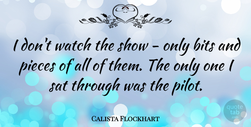 Calista Flockhart Quote About Pieces, Pilots, Watches: I Dont Watch The Show...