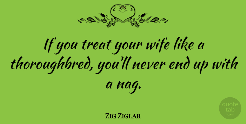 Zig Ziglar Quote About Motivational, Family, Friends: If You Treat Your Wife...