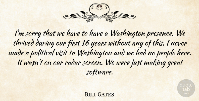 Bill Gates Quote About Sorry, Years, People: Im Sorry That We Have...