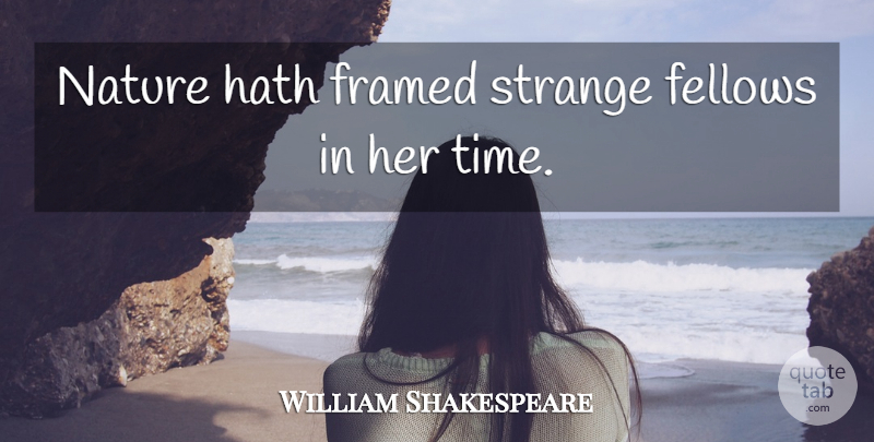 William Shakespeare Quote About Venice, Strange, Framed: Nature Hath Framed Strange Fellows...