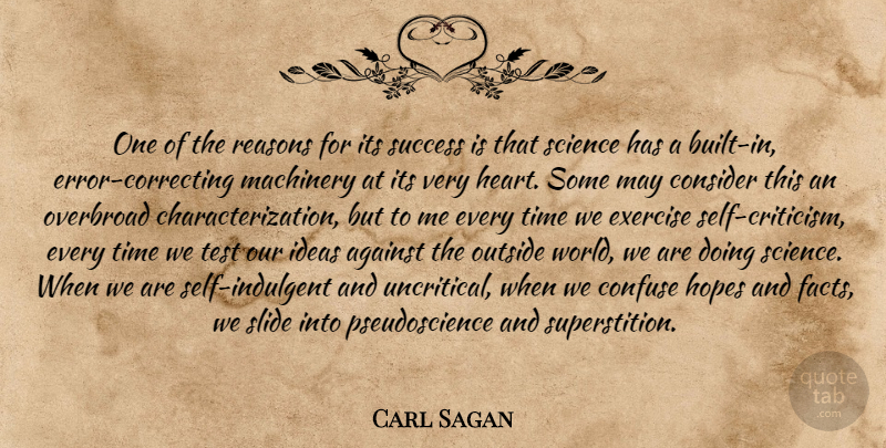 Carl Sagan Quote About Heart, Exercise, Self: One Of The Reasons For...