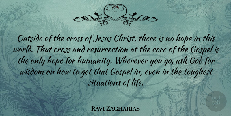 Ravi Zacharias Quote About Easter, Jesus, Life Changing: Outside Of The Cross Of...