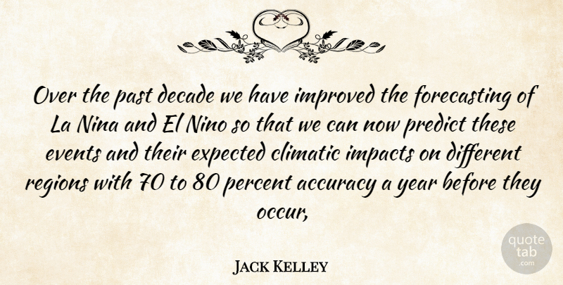 Jack Kelley Quote About Accuracy, Decade, Events, Expected, Impacts: Over The Past Decade We...