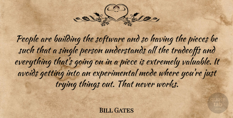 Bill Gates Quote About People, Trying, Pieces: People Are Building The Software...