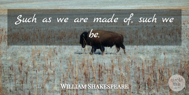 William Shakespeare Quote About Love, Love You, Destiny: Such As We Are Made...