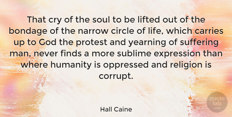 Hall Caine Quote About Men, Expression, Circles: That Cry Of The Soul...