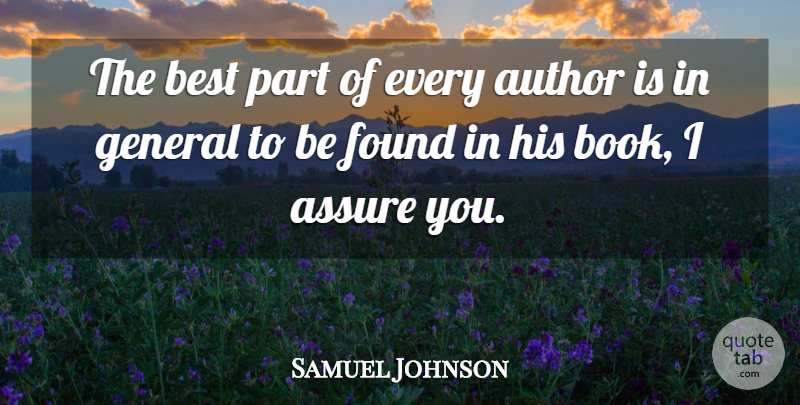 Samuel Johnson Quote About Book, Found: The Best Part Of Every...