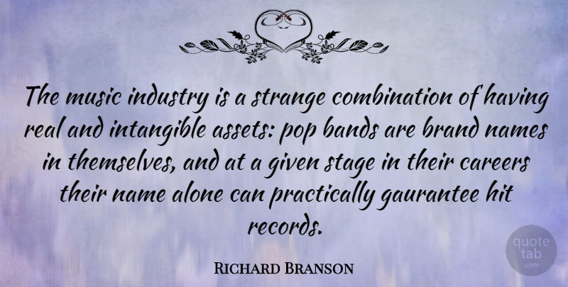 Richard Branson Quote About Success, Business, Real: The Music Industry Is A...