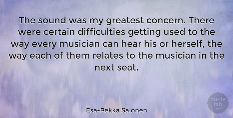 Esa-Pekka Salonen Quote About Certain, Musician, Next, Relates: The Sound Was My Greatest...