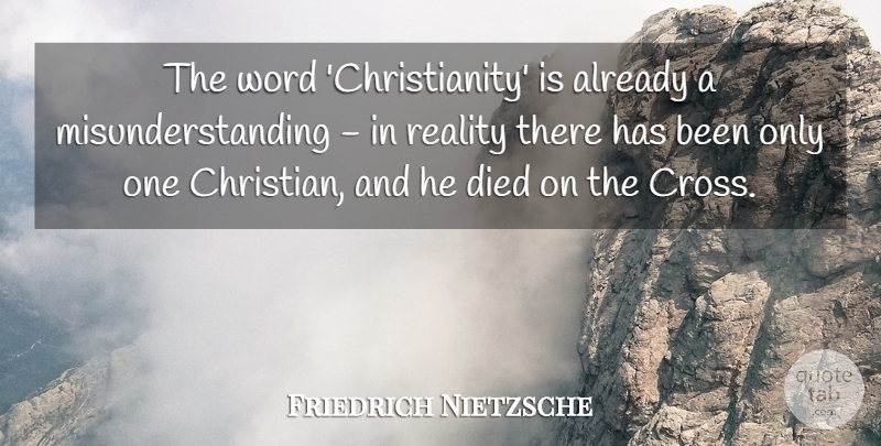 Friedrich Nietzsche Quote About Christian, Friday, Atheist: The Word Christianity Is Already...