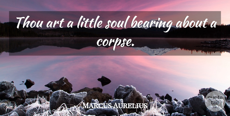 Marcus Aurelius Quote About Art, Soul, Littles: Thou Art A Little Soul...