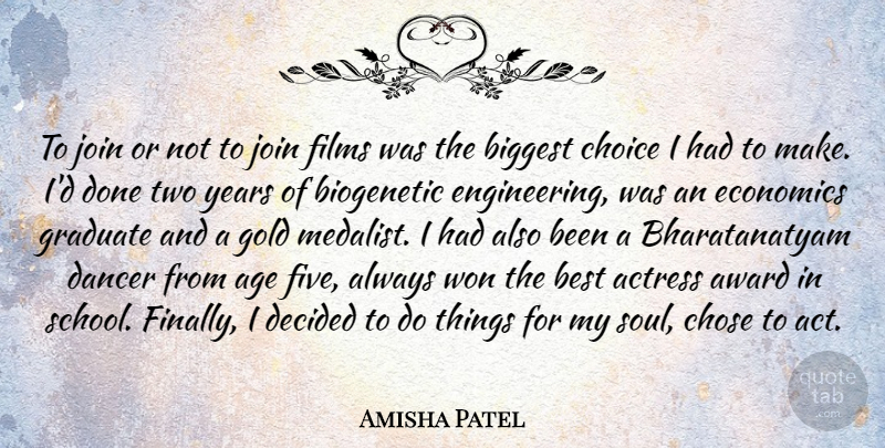 Amisha Patel Quote About Actress, Age, Award, Best, Biggest: To Join Or Not To...
