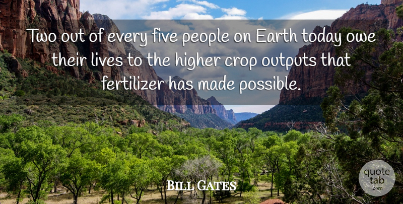 Bill Gates Quote About Two, People, Earth: Two Out Of Every Five...