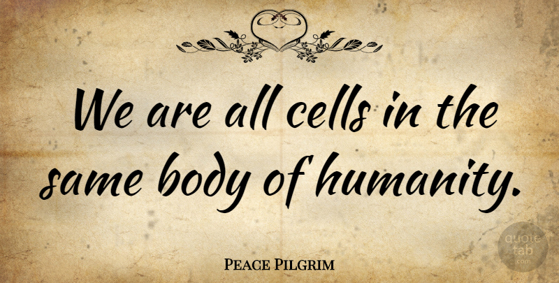 Peace Pilgrim Quote About Yoga, Cells, Humanity: We Are All Cells In...