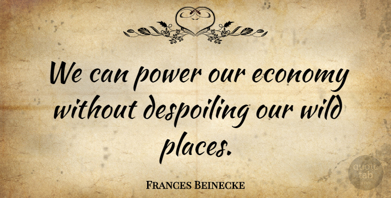 Frances Beinecke Quote About Power: We Can Power Our Economy...