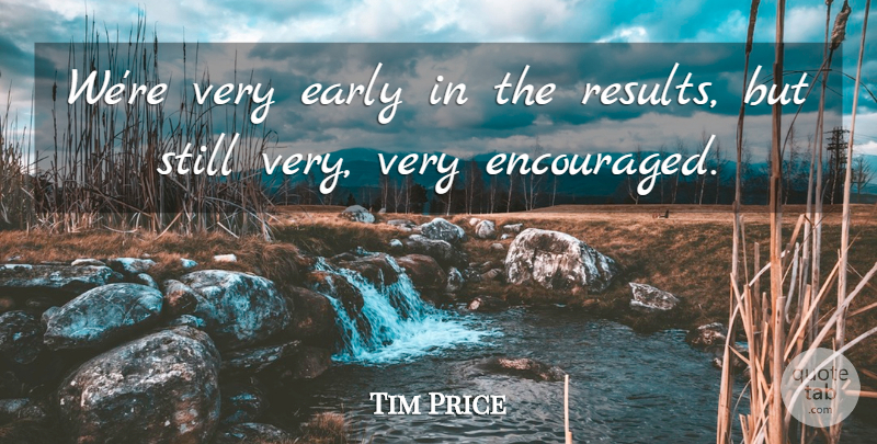 Tim Price Quote About Early: Were Very Early In The...