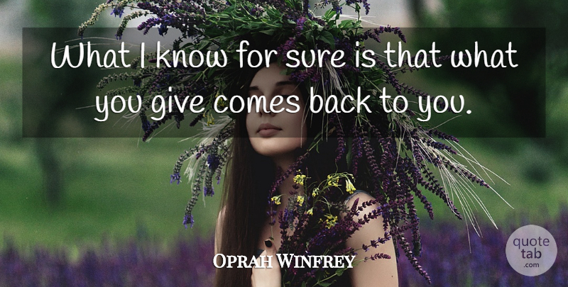 Oprah Winfrey Quote About Inspirational, Life, Motivational: What I Know For Sure...