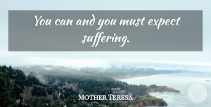 Mother Teresa Quote About Work, Suffering: You Can And You Must...