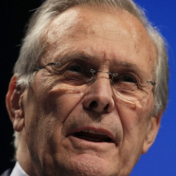 Author Donald Rumsfeld