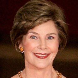 Author Laura Bush