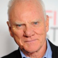 Author Malcolm McDowell