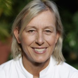 Author Martina Navratilova