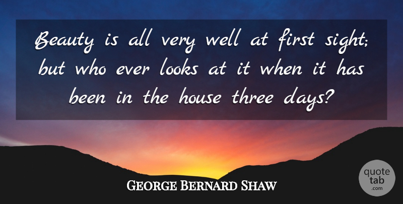 George Bernard Shaw Quote About Funny, Beauty, Humor: Beauty Is All Very Well...