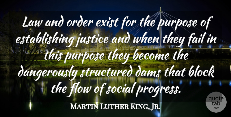 Martin Luther King, Jr. Quote About Block, Order, Law: Law And Order Exist For...
