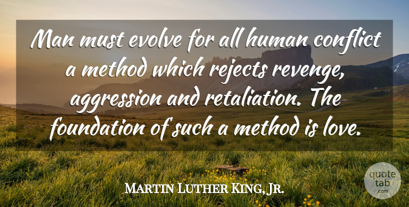 Martin Luther King, Jr. Quote About Love, Peace, Kings: Man Must Evolve For All...