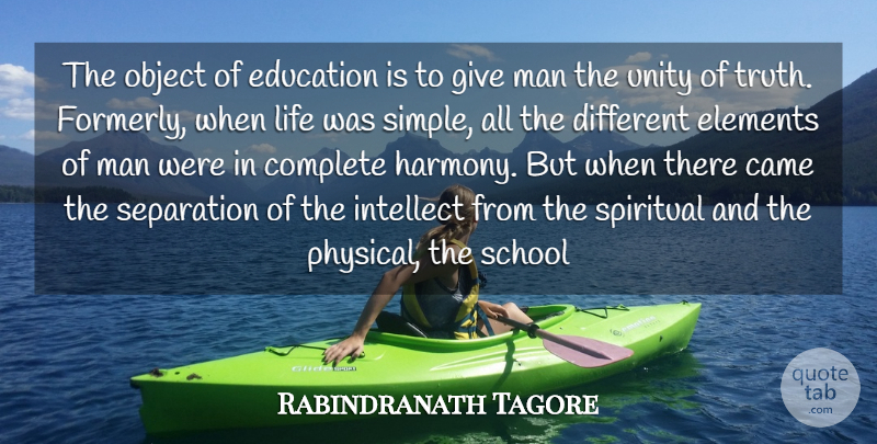 rabindranath tagore the object of education is to give man the