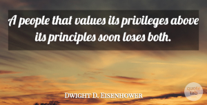 Dwight D. Eisenhower Quote About Success, Witty, Memorial Day: A People That Values Its...