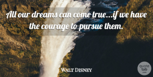 Walt Disney Quote About Inspirational, Life, Motivational: All Our Dreams Can Come...